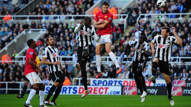 Newcastle were well beaten by Manchester United at St James' Park