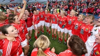 The Cork Ladies Footballer team return home following their seventh All-Ireland success in the last eight years