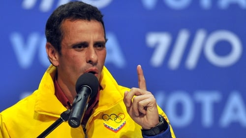Henrique Capriles claimed the government had lied to Venezuelans