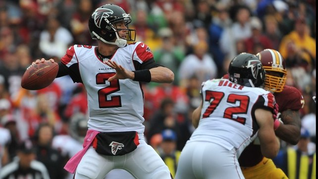Matt Ryan completed 34 passes as the Falcons moved to a 5-0 winning start to the season
