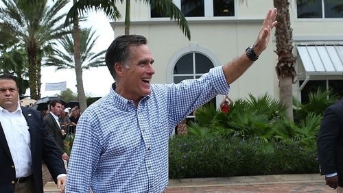 Mr Romney is closing in on Barack Obama in the polls