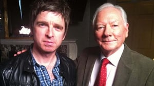 Noel Gallagher with Gay Byrne when he appeared on The Meaning of Life