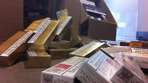 The cigarettes were found at Dublin Port in a refrigerated trailer
