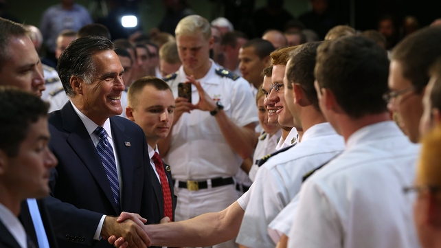 The Republican candidate spoke to cadets at the Virginia Military Institute