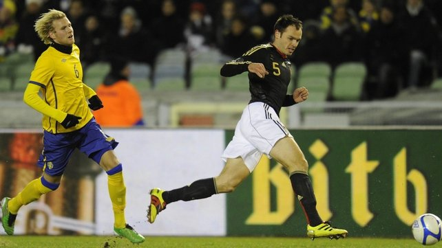 Heiko Westermann in action in his last appearance for Germany, in a friendly against Sweden in November 2010