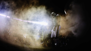 Quarterback Michael Vick of the Philadelphia Eagles is introduced before the game against the New York Giants