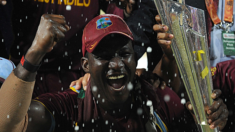 West Indies captain Darren Sammy after winning the ICC World Twenty20 2012 final against Sri Lanka