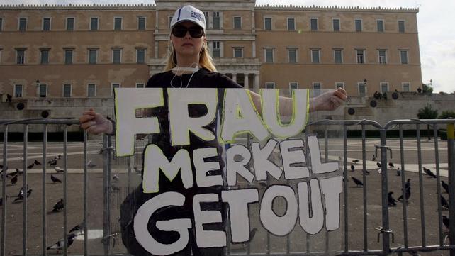 Many Greeks blame Angela Merkel for the austerity measures