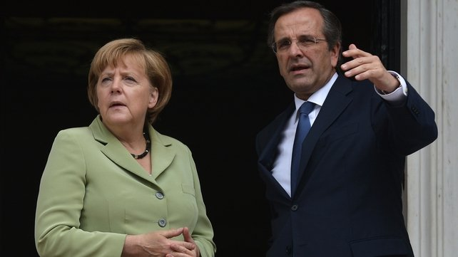 Angela Merkel held talks with Antonis Samaras in Athens