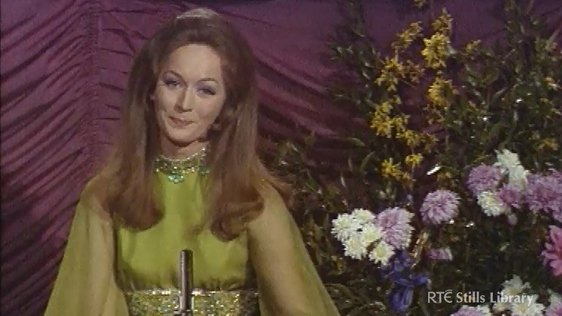 Bernadette Ní Gallchóir presents the Eurovision Song Contest in 1971.