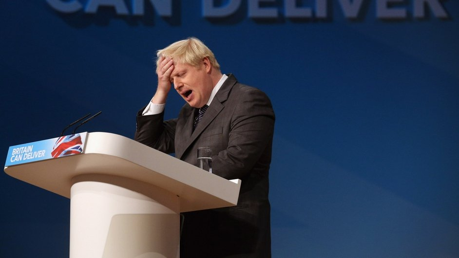 London Mayor Boris Johnson makes a speech at the Conservative Party annual conference in Birmingham