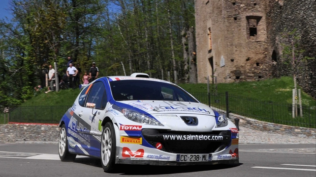 Craig Breen in action at the Tour de Corse