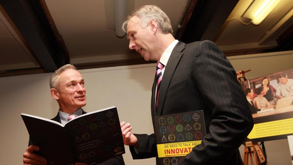 Ben Hurley CEO NDRC and Minister Richard Bruton at the launch this morning