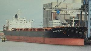 The Pioneer Atlantic is docked at Foynes