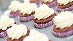 A simple and effective recipe: Red Velvet cupcakes.