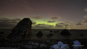 Another view of the Northern Lights, from Malin Head in Co Donegal (Pic: Gerard O'Donnell)