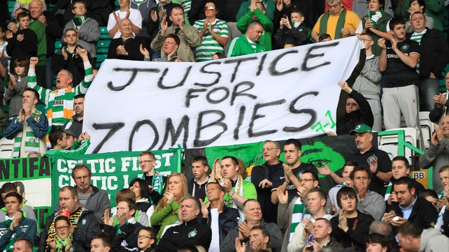 Celtic fans poke fun at the SFA following the charge levelled against the club