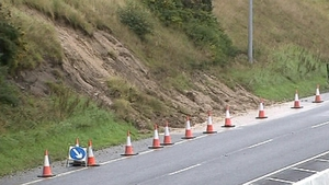 A section of the M6 will be under traffic management due to a mudslide