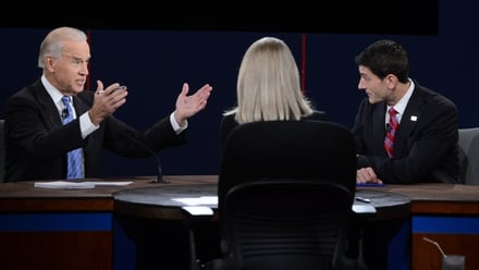 Joe Biden and Paul Ryan in the Vice Presidential debate