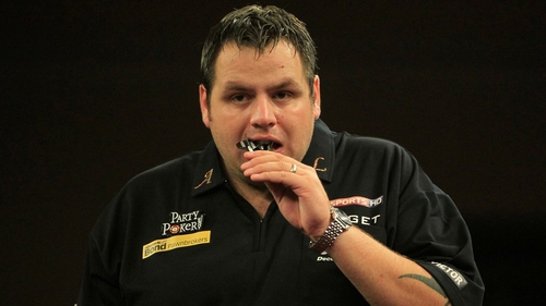 Adrian Lewis hit nine 180s on his way to victory over Vincent van der Voort