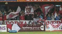 Sligo Rovers supporters get ready for the title showdown against St Patrick's Athletic