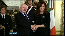 President Higgins meets Argentinian leader