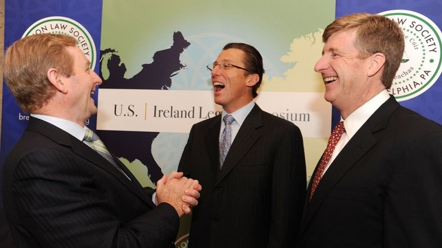 Enda Kenny spoke at the Brehon Law Society Symposium in Philadelphia (Pic: Liam Sweeney)