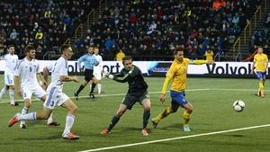 Zlatan Ibrahimovic slotted home the winner against the Faroe Islands