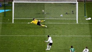 Mesut Ozil was next to score, this time from the penalty spot