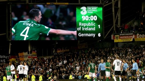 Humiliation - the scoreboard at the Aviva Stadium tells its own story