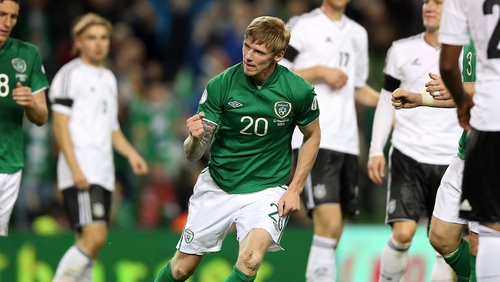Andy Keogh has received a late call-up to the Ireland squad for the upcoming World Cup qualifiers with Sweden and Austria