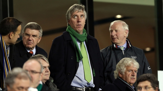 As of now, John Delaney is happy to remain on as boss of the FAI