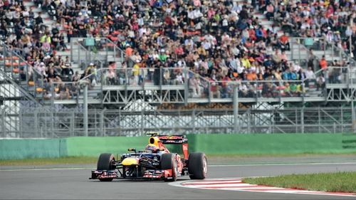 Mark Webber takes a corner during the qualifying session of the Korean Grand Prix in Yeongam