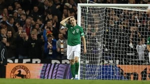 John O'Shea reacts after Germany went 4-0 up