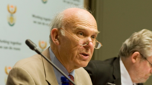 UK Business Secretary Vince Cable in Dublin today for conference