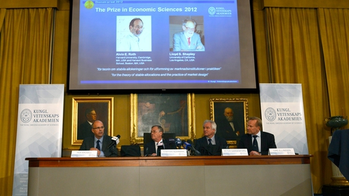 Americans Roth and Shapley win Nobel Memorial Prize in Economic Sciences for 2012