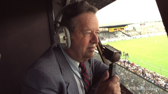 RTÉ sports commentator Michael O'Hehir (1984)
