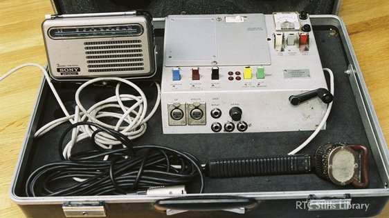 An RTÉ Radio Outside Broadcast technical kit used by commentators.