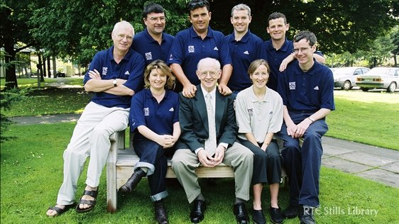 RTÉ Radio Broadcasters for the Sydney Olympics (2000). Catherina McKiernan is front right.