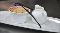 Rhubarb crumble with custard - From episode three of MasterChef Ireland 2012