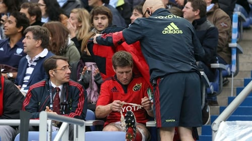 Ronan O'Gara's hamstring injury will keep him out of Munster's tie with Edinburgh