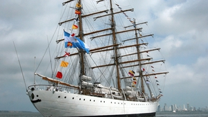 The Libertad is a naval training vessel