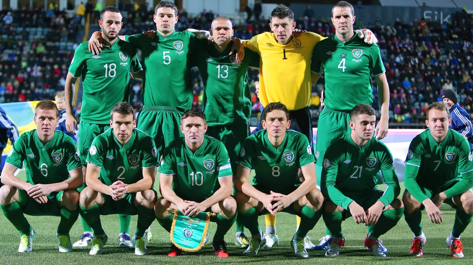 The Republic of Ireland starting team against the Faroe Islands