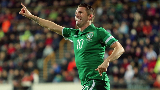 Robbie Keane looks set to feature against England