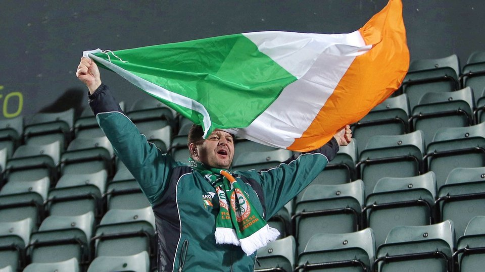This Ireland fan had a little bit more to shout about in the second half