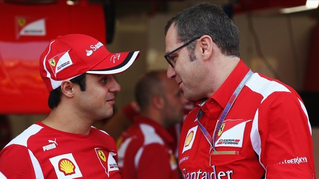 Felipe Massa with Stefano Domenicali