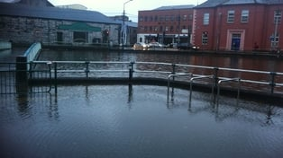 Flooding on South Terrace in Cork city following high tide