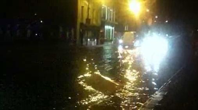 Floods hit Cork city centre