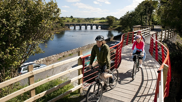 The Great Western Greenway is the longest off-road cycling and walking trail in Ireland