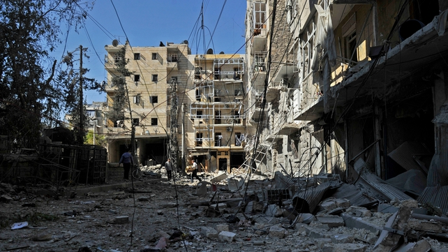 Several Syrian cities, including Aleppo, have been destroyed in the conflict